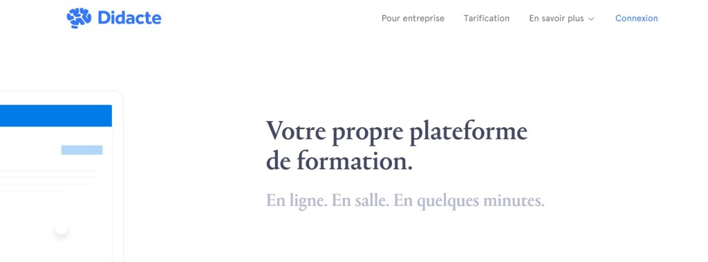 Didacte plateforme formation