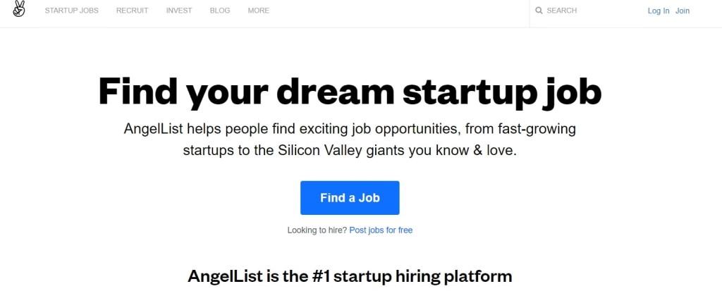 angel list remote jobs startup