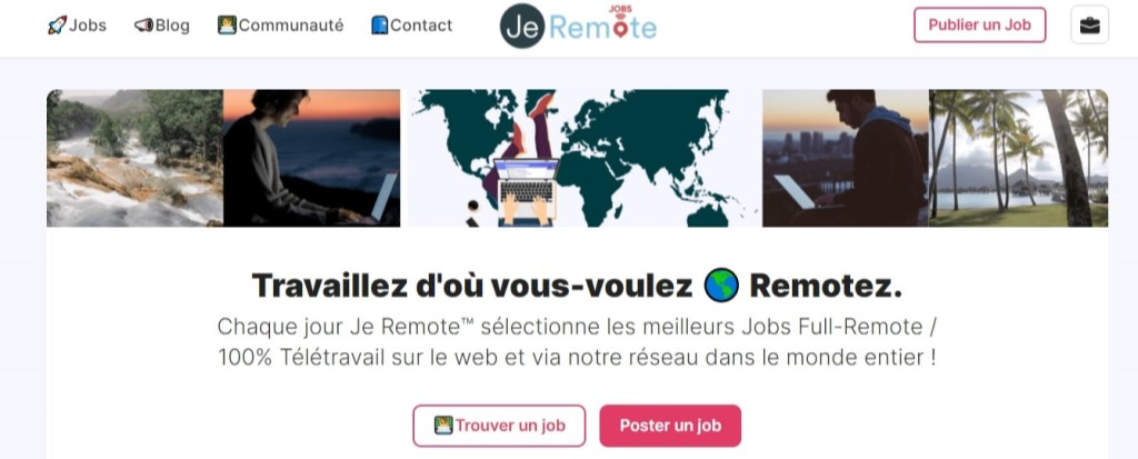 jeremote page acceuil