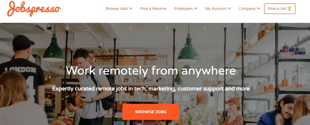 jobspresso page acceuil