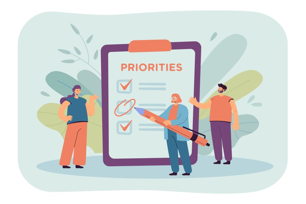 liste priorite objectif