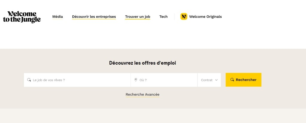 welcome to the jungle plateforme travail distance
