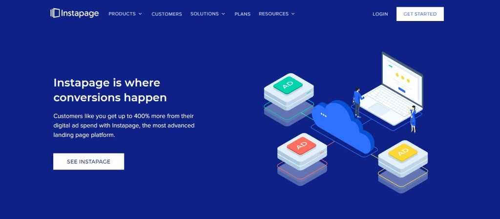 meilleur outil landing page instapage