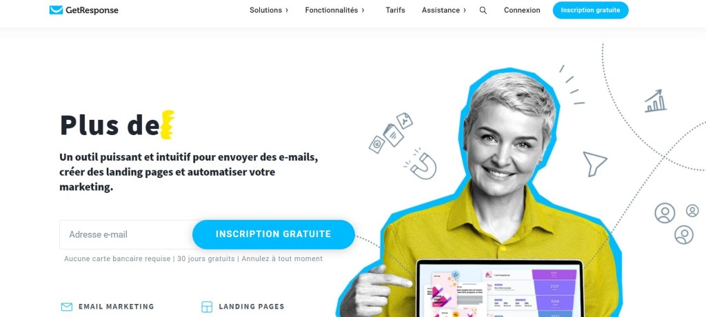 outil creation landing page getresponse