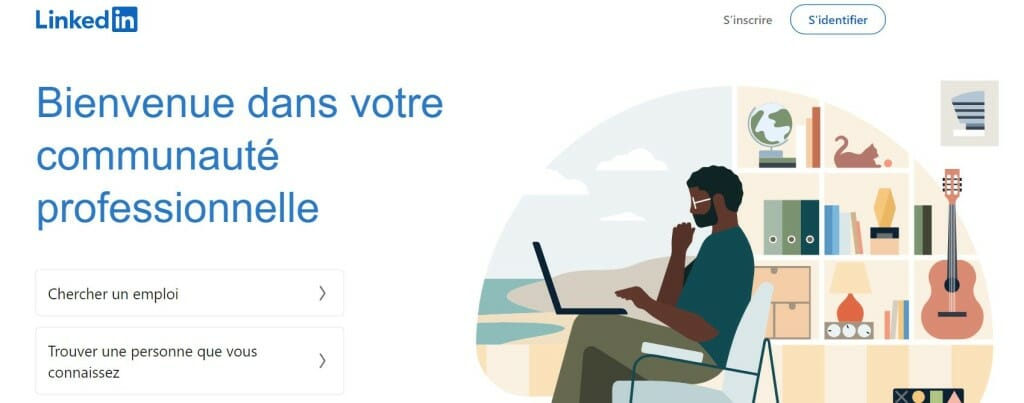 linkedin page accueil