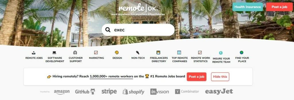 remote ok plateforme freelance