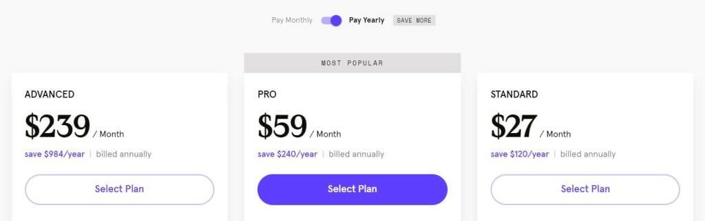 tarif prix leadpages