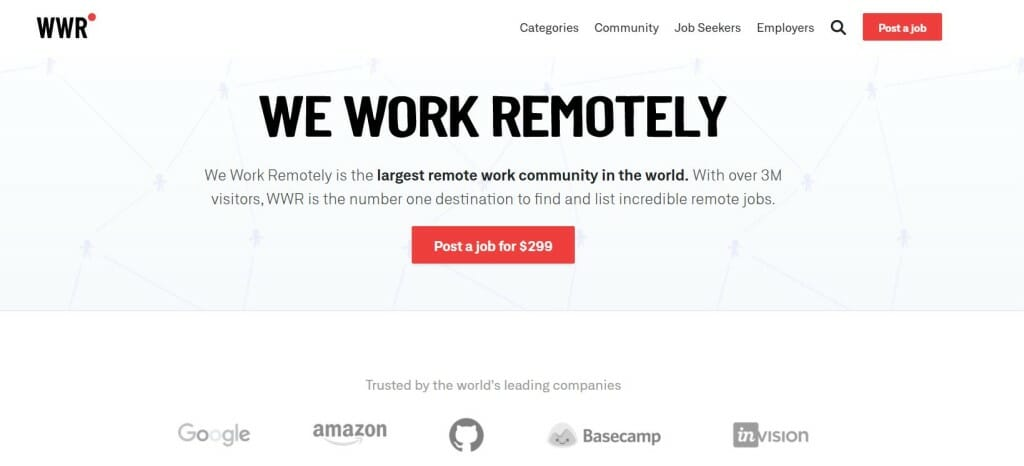 we work remotely home page