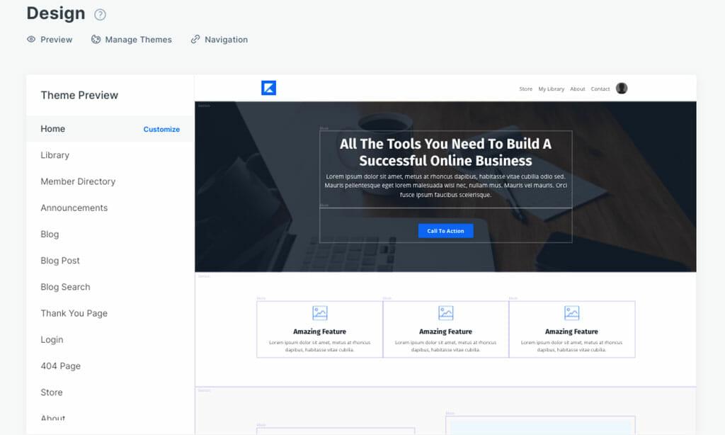 design site kajabi