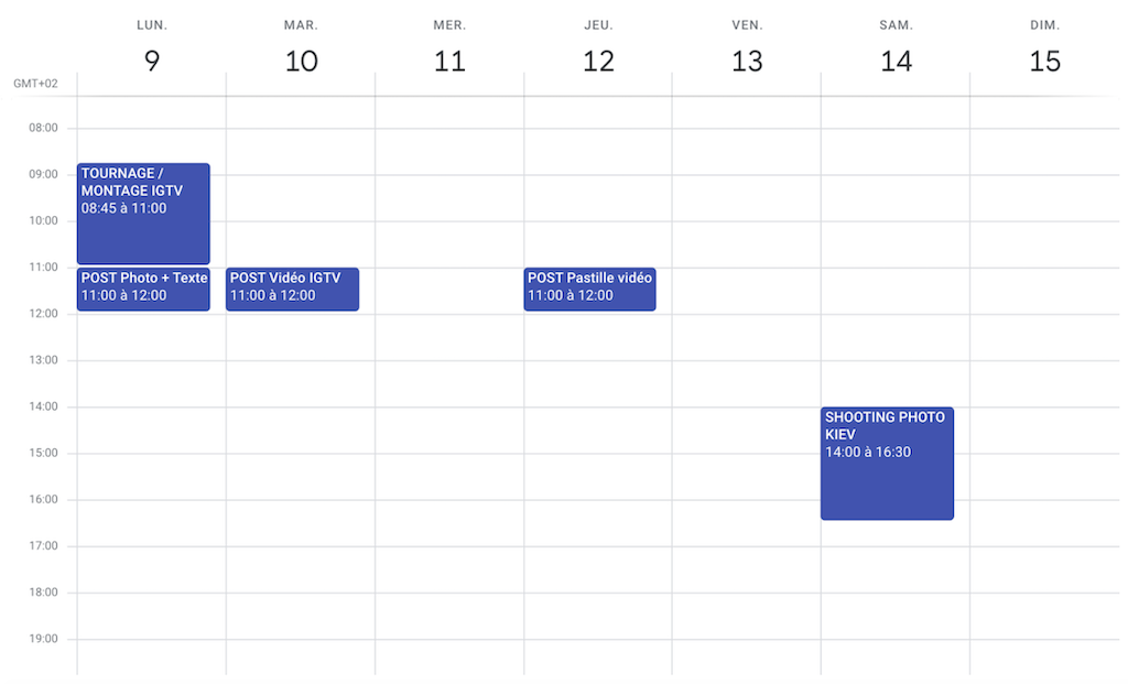 calendrier editorial creation contenu
