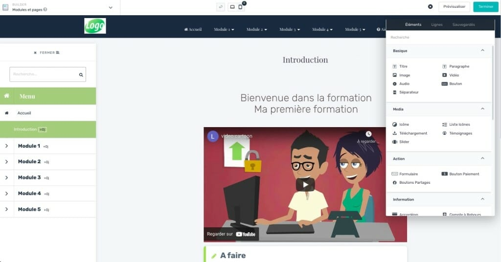 creer formation avec learnybox