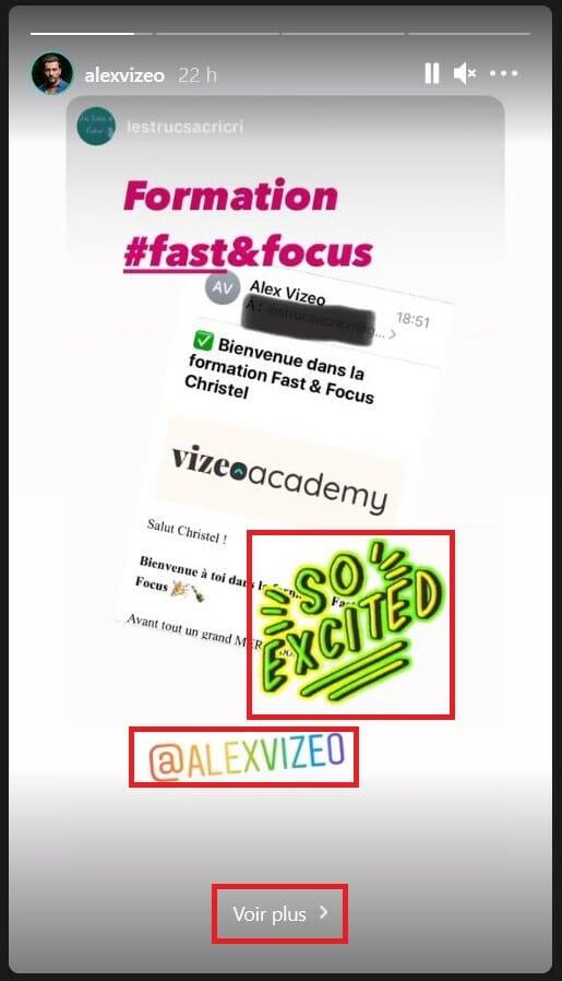 format story instagram alex vizeo