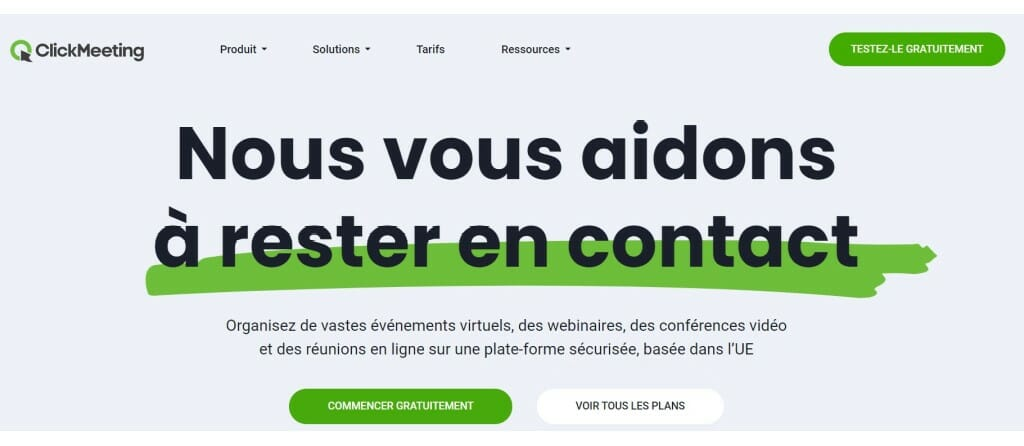 clickmeeting page acceuil